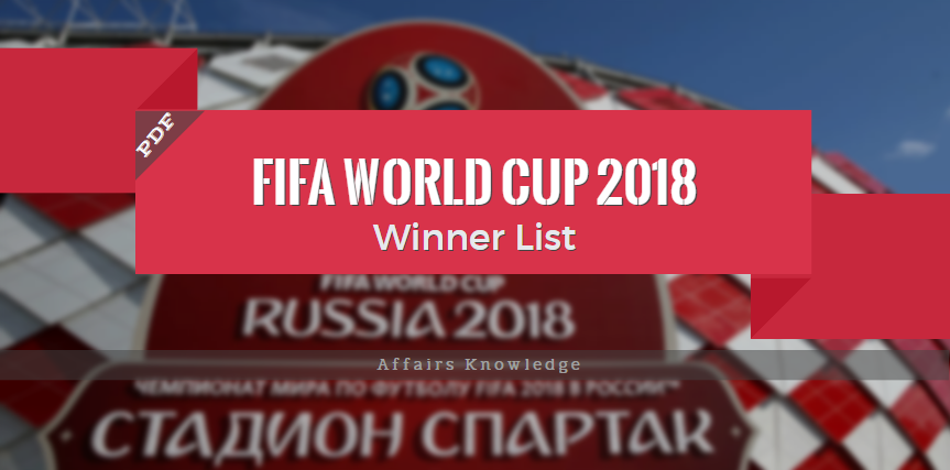 Important Questions on Fifa World Cup 2018 – Affairs Knowledge